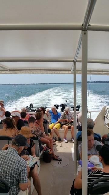 op de veerboot naar Arcachon