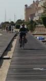houten fietspad langs het strand van Arcachon