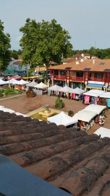 zondagse markt in Biscarosse
