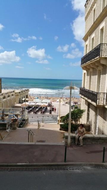 Uitzicht op het strand van Biarritz