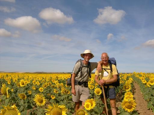 J&J tussen de zonnebloemen