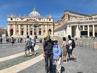 Aankomst in Rome met Veronica
