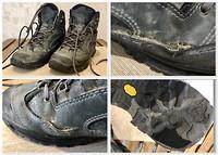 Deze wandelschoenen gaan welverdiend met pensioen :)