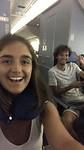 Met Jorn in het vliegtuig.... terug