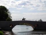 Gaucho te paard over historische brug