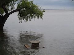Dit zou een camping moeten zijn; overstroming