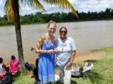 Ik en mevrouw Hokstam(directrice)