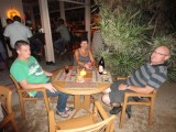 Op het terras bij de Zanzibar