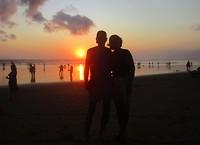 11 september - zonsondergang op het strand van Seminyak