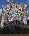 Prachtige muurschildering in Burgos