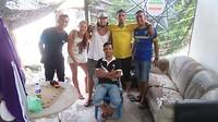 Chillen met Diny en zijn vrienden