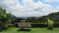 Uitzicht vanaf de berg over Penang