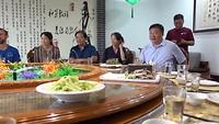 Eten met de directie van TCM Uiversiteit