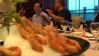 Eten op uitnodiging van de Universiteit in Zhangzhou