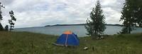 Tentje aan het meer (nacht 1)