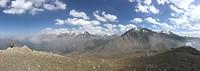 Uitzicht vanop Small Almaty peak