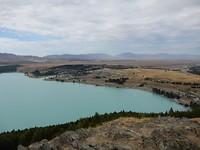 Uitzicht vanaf Mount John