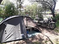 Tentje opgeslagen op een knusse camping in Blagaj ten zuiden van Mostar
