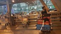 Aangekomen op airport Suvarnabumi in Bangkok