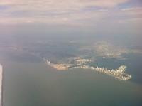 Cartagena vanuit de lucht