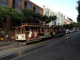 In San Fransisco op het treintje