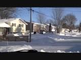 straat van het huis in Greenwood