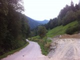 Fietspad Alpen