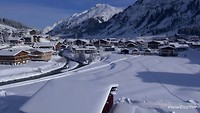 Winter flight over Lech / Arlberg