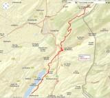 Routekaart dag 3 Les Allies - Malbuisson 27 km