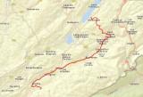Routekaart dag 4 Malbuisson - Mouthe 21 km