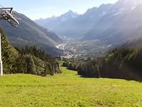 Het dal bij Les Houches