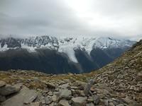De gletsjers van de Mont Blanc