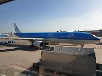 Het vliegtuig wat ons naar Calgary heeft gebracht.