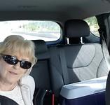 Paula op de achterbank