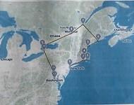 Route kaartje voor de trip