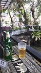 Koh Samui, biertje tijdens schrijven verhaal
