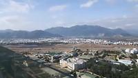 Uitzicht vanaf hotelkamer Nha Trang