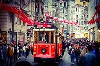 Het karakteristieke trammetje van Istanboel