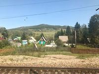 Uitzicht op een Russisch dorpje