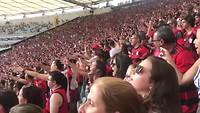 Sfeer in het Maracana stadion