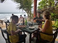 Laatste lunch met uitzicht op zee
