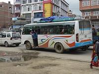 Overvolle bus Banepa