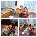 Kinderen in Banepa op hun kamer