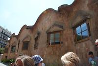 """""""De school"""" die Gaudi heeft laten bouwen voor de kinderen van de werkers."""