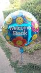 Welcome back ballon
