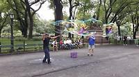 Bellen blazen in Central Park