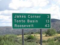 Richtung Roosevelt Reservoir