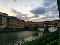 Bonte Vecchio bij het vallen vd avond