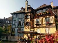 De karakteristieke gekleurde huisjes van Colmar