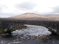Berg, brug, water